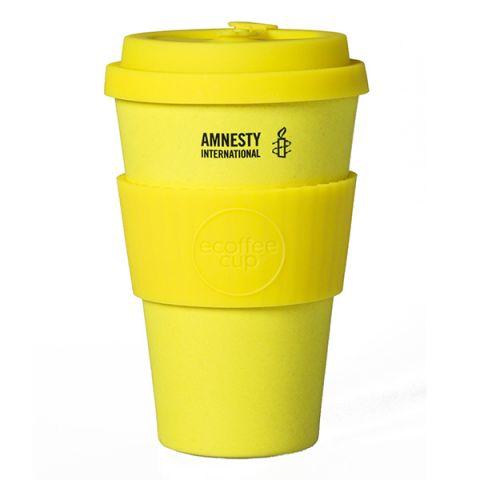 Bamboe koffiebeker geel