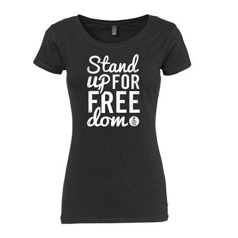 Dames T-shirt Stand up for Freedom