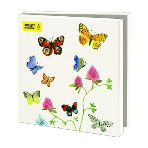 Kaartenmapje Bloemen en Vlinders