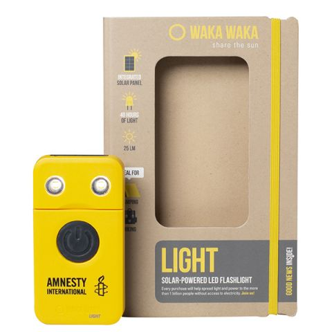 WakaWaka LED-zaklamp geel