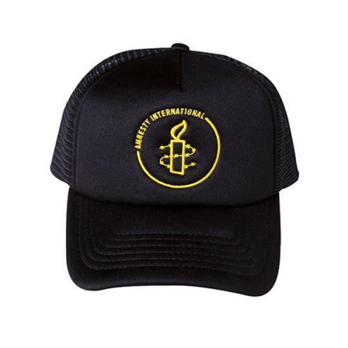 Amnesty cap - gele opdruk