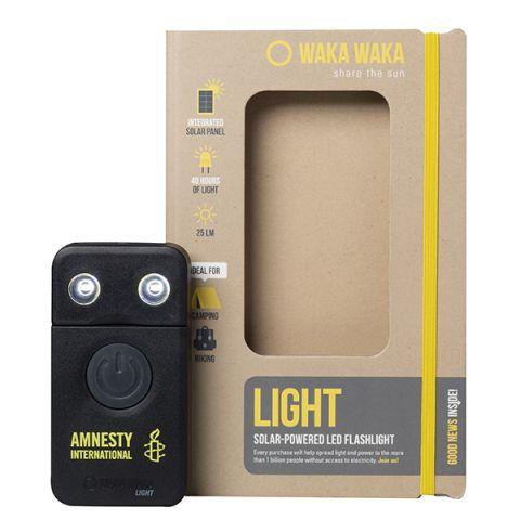 WakaWaka LED-zaklamp zwart