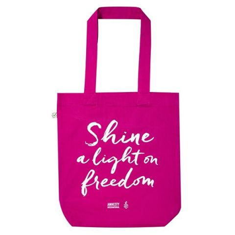 Tas Shine a light on Freedom - roze
