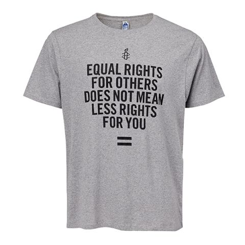 Unisex T-shirt - Equal Rights | Grijs