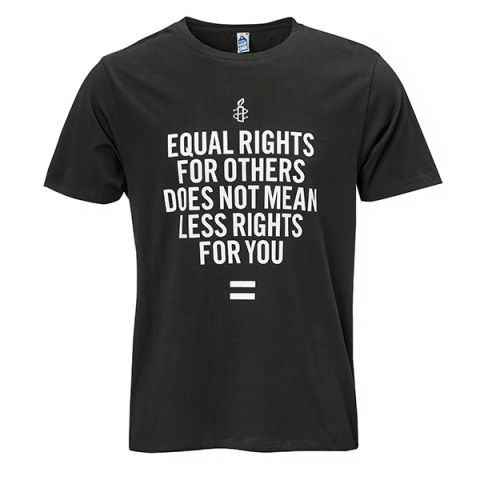 Unisex T-shirt - Equal Rights | Zwart