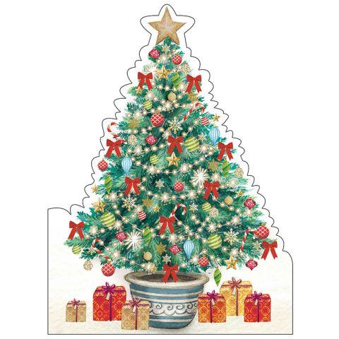 Kerstkaarten Kerstboom versierd
