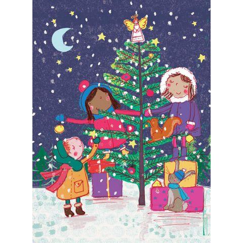Kerstkaarten wereldkinderen