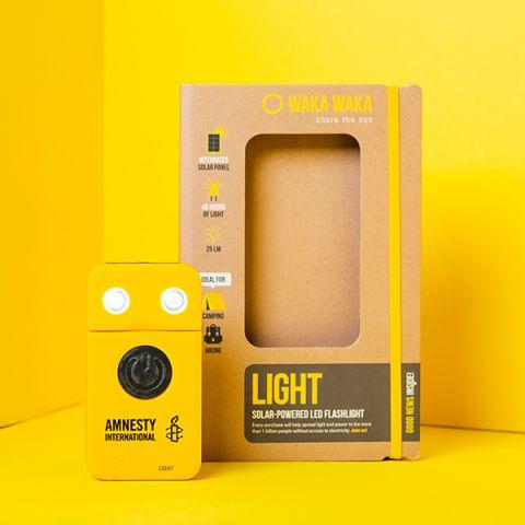 WAKA WAKA LED-zaklamp geel