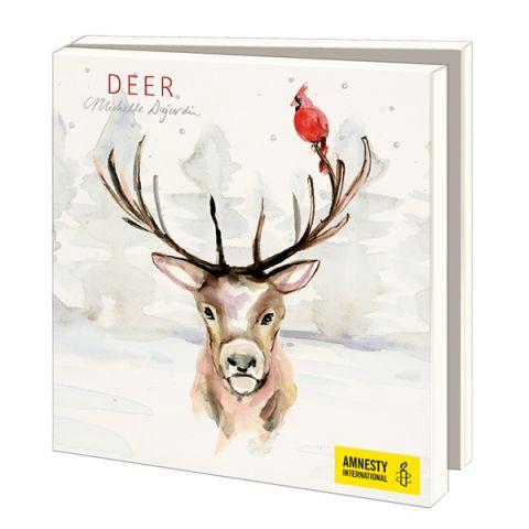 Kerstkaarten  Michelle Dujardin Deer
