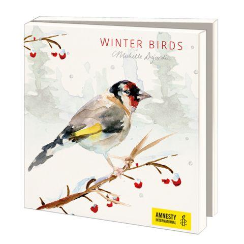 Kerstkaarten Michelle Dujardin, Winterbirds