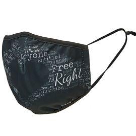 Amnesty mondkapje Hart (zwart)