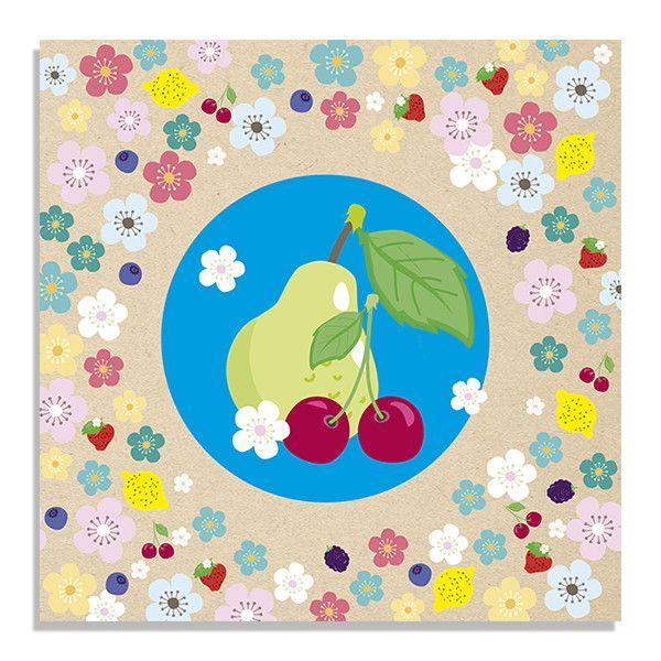 Wenskaartenmapje Tutti Frutti
