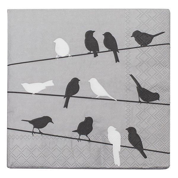 Servetten Birds on a Wire