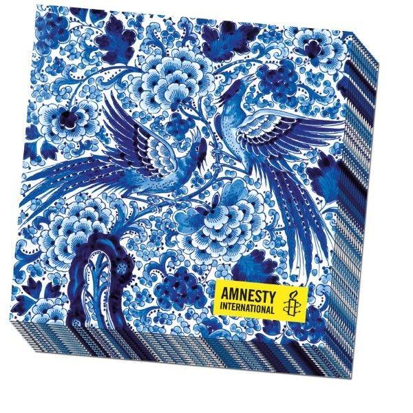 Servetten Delfts Blauw