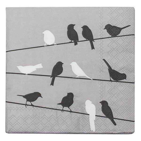 Servetten Birds on a Wire