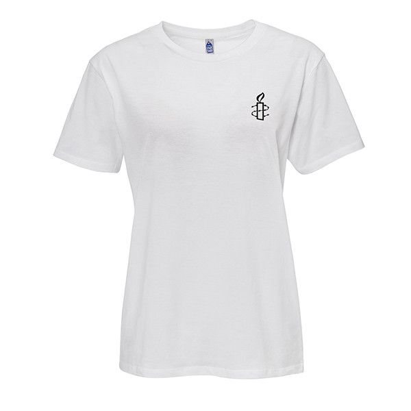 Unisex T-shirt - wit met zwart kaarsje