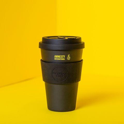 Bamboe koffiebeker zwart