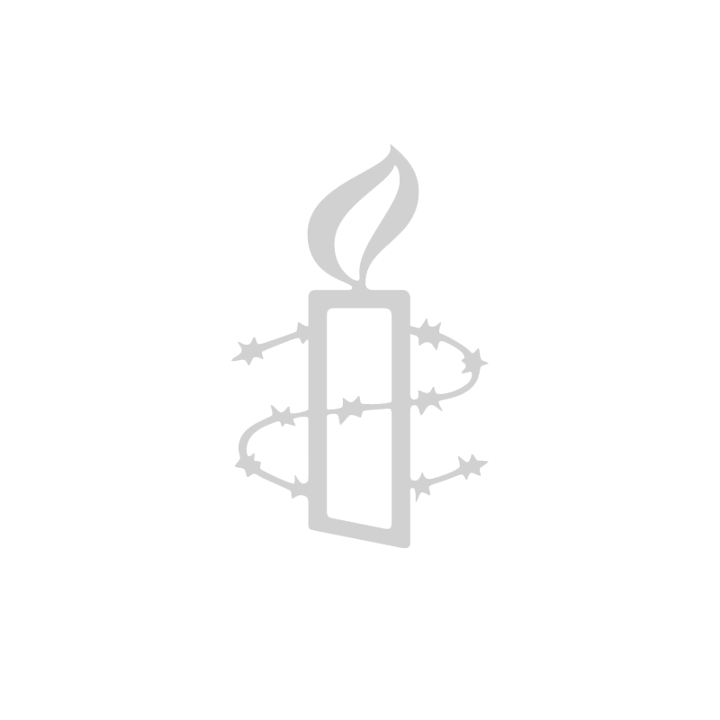 Unisex Amnesty vest - gele opdruk