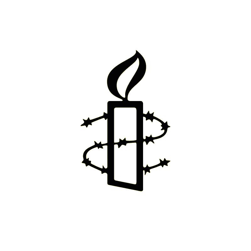 Unisex Amnesty vest - witte opdruk