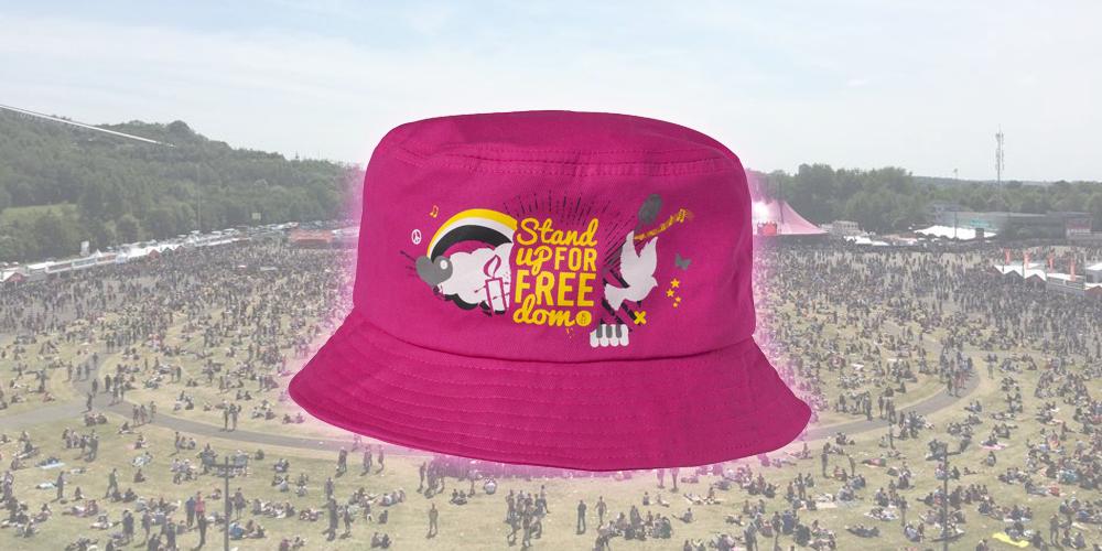 Amnesty & het roze Pinkpop hoedje