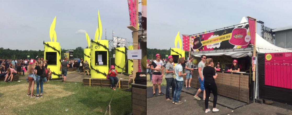 Amnesty in actie tijdens Pinkpop 2017