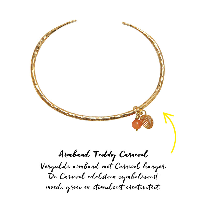 Armband Teddy Carneool