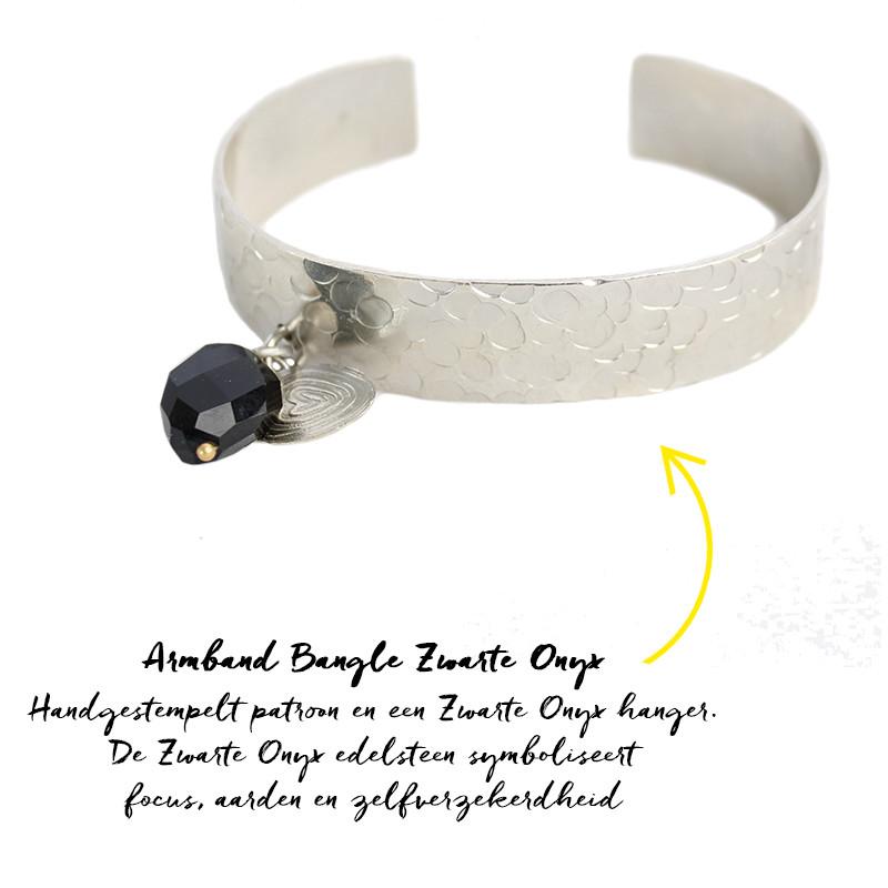 Armband Bangle Zwarte Onyx