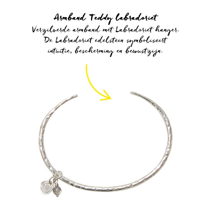 Armband Teddy Labradoriet